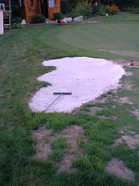 Backyard Sand Bunker : grow in bunker construction bunker framework bunker backfilled and